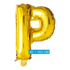 Gouden letters ballon P