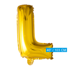 Gouden letters ballon L