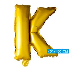 Gouden letters ballon K
