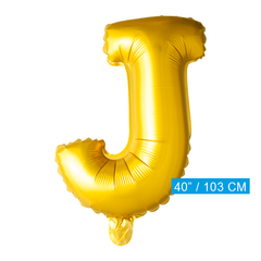 Gouden letters ballon J