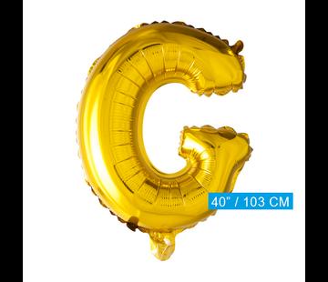 Letter G folie ballon goud
