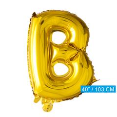 Letter B folie ballon goud