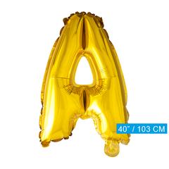 Letter A folie ballon goud