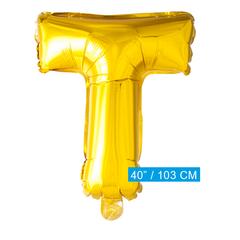 Letter ballonnen goud folie T