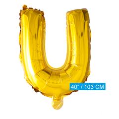 Folie letter ballon U goud