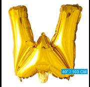 Folie letter ballon W goud
