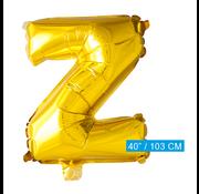 Folie letter ballon Z goud