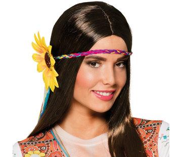 Hippie Pruik met Zonnebloem Haarband