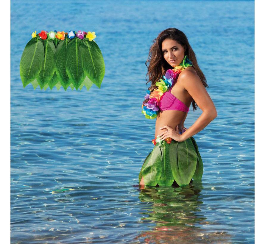Hawaii rokje palmblad kopen