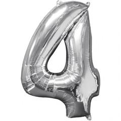 Folieballon cijfer 4