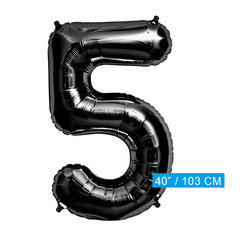 Zwarte Folie ballon 5