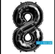 Zwarte Folie ballon 8