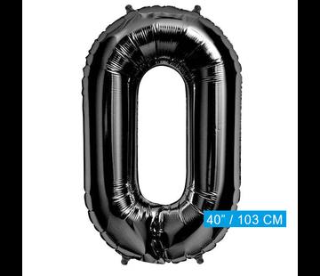 Zwarte Folie ballon 0