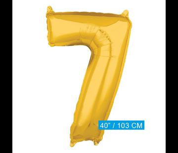 XL Folieballon nummer 7 goud