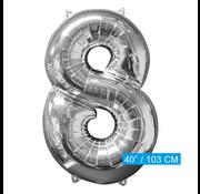Nummer 8 XL Folieballon