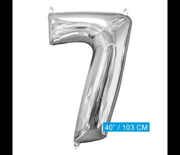 XL Folieballon nummer 7