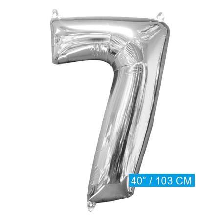 XL Folieballon nummer 7 (103 cm)