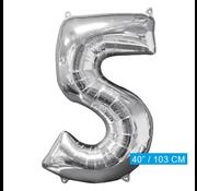 Folie ballon cijfer 5