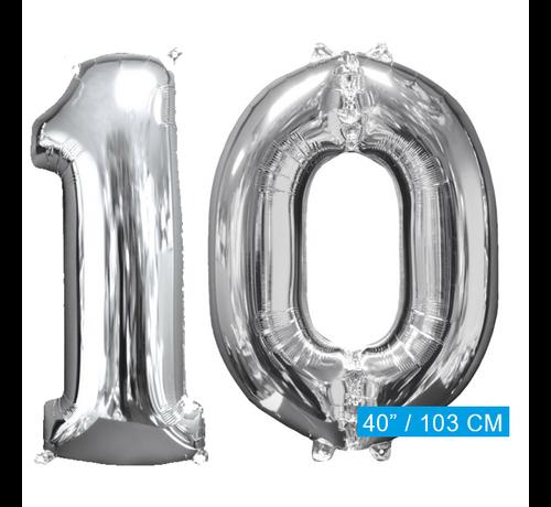 Ballonnen cijfers 10 (103 cm)