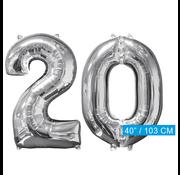 Helium ballonnen cijfers 20
