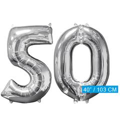 Helium ballonnen cijfers 50