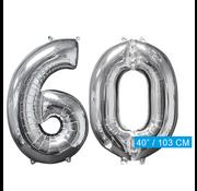 Helium ballonnen cijfers 60