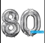 Helium ballonnen cijfers 80