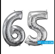 Helium ballonnen cijfers 65