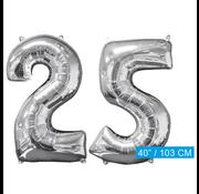 Helium ballonnen cijfers 25
