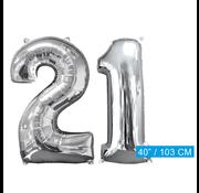 Helium ballonnen cijfers 21