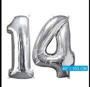 Helium ballonnen cijfers 14