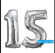 Helium ballonnen cijfers 15