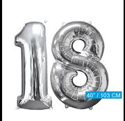 Helium ballonnen cijfers 18
