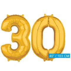 Cijfer ballonnen goud 30