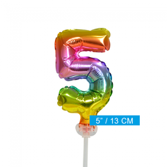 Taart decoratie ballon cijfer