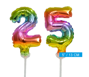ballonnen cijfers 25