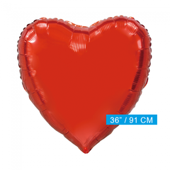 Rood folie hart ballon