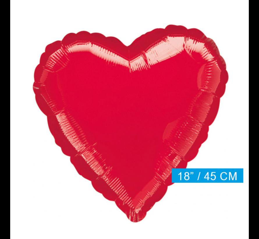 blanco folie hart ballon rood