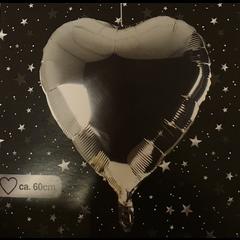Ballon hart zilver