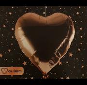 Ballon hart rosé goud