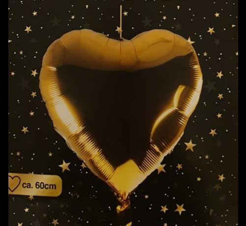 Helium ballon hart goud 60 cm