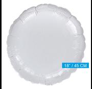 Blanco folieballon rond zilver