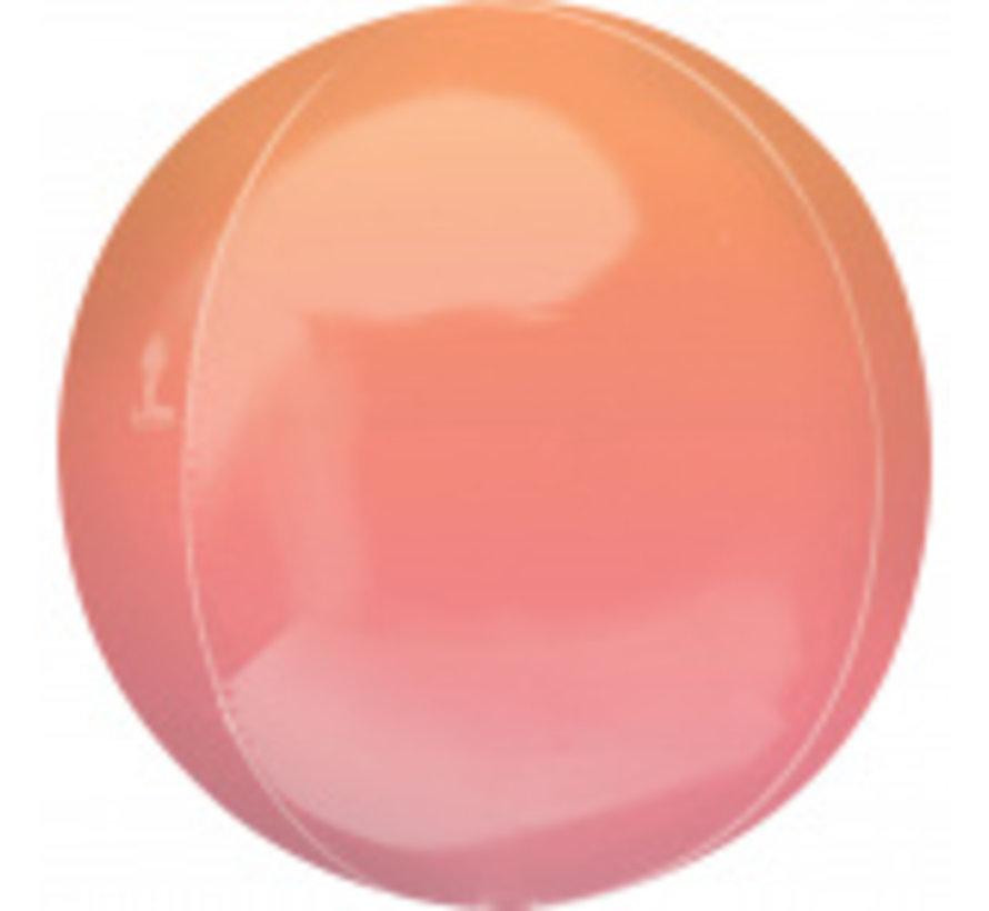 Orbz Ombré oranje/rood folie ballon