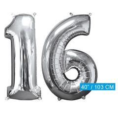Helium ballonnen cijfers 16