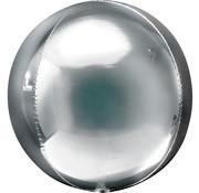Orbz zilver folie ballon