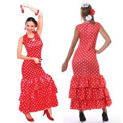 Rode flamenco jurk