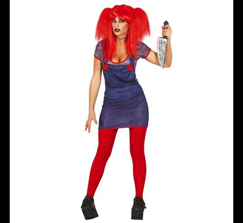 Dames Chucky kostuum Halloween