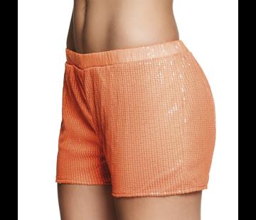 Neon oranje hotpants