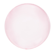 Crystal clearz orbz ballon pink