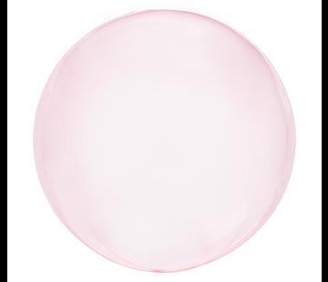 Crystal clearz orbz ballon pink